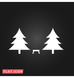 Camping among the trees vector