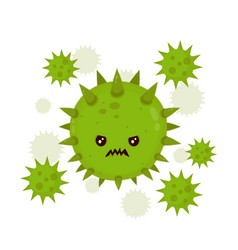 Cute angry evil bad fly germ virus vector