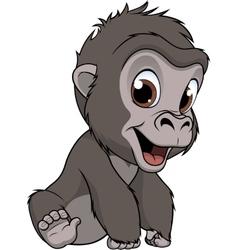 Cute baby gorilla vector