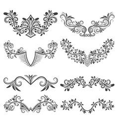 Design ornamental elements set Floral tattoo in vector image vector image