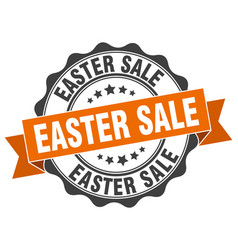 easter sale stamp sign seal vector image vector image