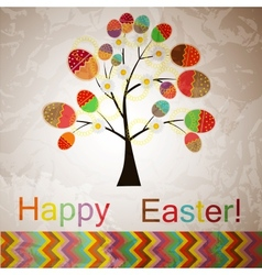 easter tree with eggs vector image