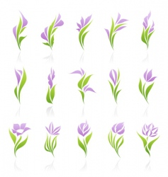 floral logo template vector image vector image