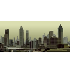 General view of the city with skyscrapers vector