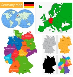 Germany map vector