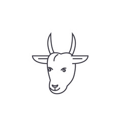 goat head line icon sign on vector image vector image