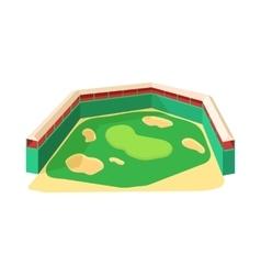 Golf course icon cartoon style vector