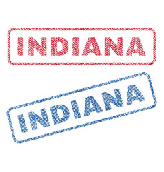 Indiana textile stamps vector
