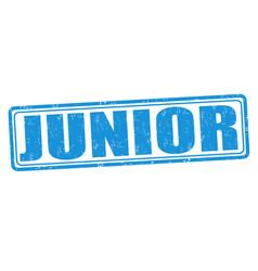 Junior grunge stamp vector
