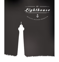 Lighthouse drawn vector image vector image
