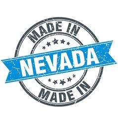 Made in nevada blue round vintage stamp vector