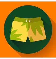 Man Beach Shorts icon Flat design style vector image vector image