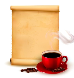 Menu for restaurant Coffee design template vector image