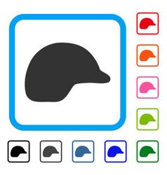 Motorcycle helmet framed icon vector