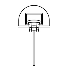Outdoor basketball hoop icon outline style vector