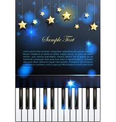Piano and stars vector image
