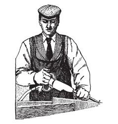 Pneumatic chisel vintage vector