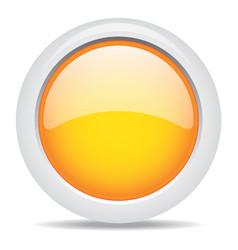 Popular orange color web button 3d vector