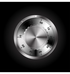 safe combination lock vector image