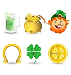 saint patricks day icons vector image vector image