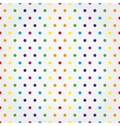 Seamless pattern with colorful polka dots vector image