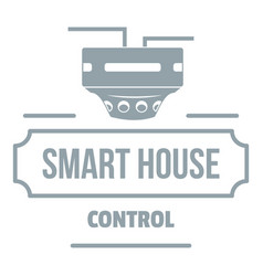 smart house logo simple gray style vector image vector image