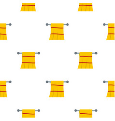 Yellow towel hanging on hanger pattern seamless vector