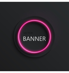 Modern neon banner background vector