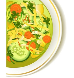 Cucumber soup vector