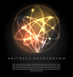 Glowing background with 3d lights ball vector