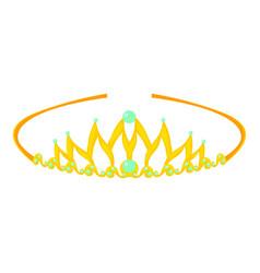 Tiara icon cartoon style vector