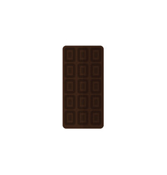 Isolated chocolate bar flat icon confection vector