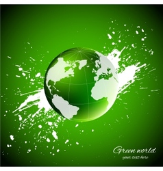 Green world ecology concept vector
