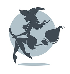 Young attractive witch vector