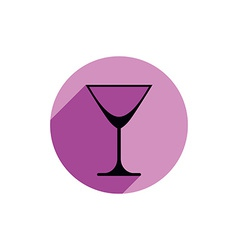 Classic empty martini glass alcohol and vector