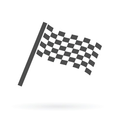 Finish flag icon vector