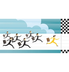 Business race and run to goal vector