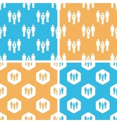 Work group pattern set colored vector