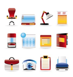 Realistic business and firm icons vector