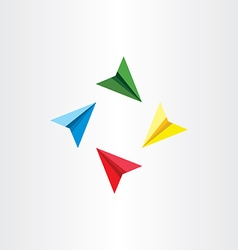 Colorful paper airplanes plane vector