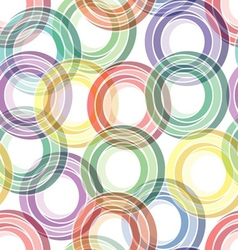 seamless ring pattern vector image