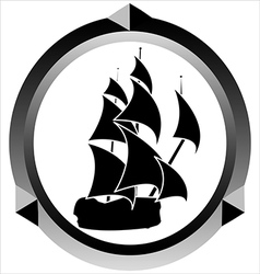 Icon of a sailboat vector