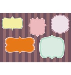 Collection of sweet retro colorful frames on dark vector