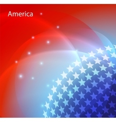 Abstract image of the USA flag vector image vector image