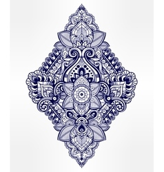 Beautiful bohemian floral paisley ornament vector