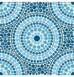 Blue colors dotted circles seamless pattern vector image vector image