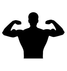 Bodybuilder it is the black color icon vector