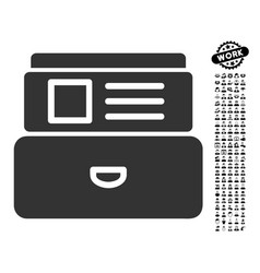 Catalog icon with work bonus vector