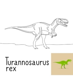 Coloring page with Turannosaurus rex vector image