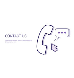 contact us customer support information business vector image